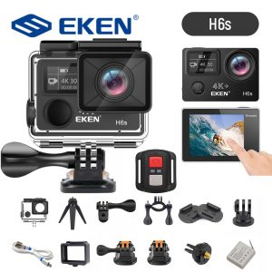EKEN H6s 4K Ultra HD 14MP EIS Action Camera Wiht Remote Control A12 Chip 30m Waterproof Panasonic Sensor Sport Camera