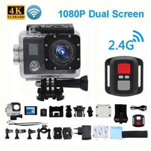 Ultra HD 4K Action Camera Wifi Camcorders 150 Dgreen cam 4 K deportiva 2 inch B6 B6R Waterproof Sport Camera pro 1080P 30fps cam