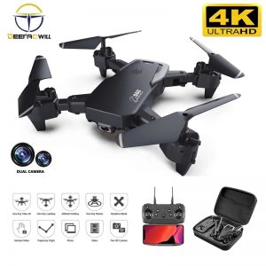 2020 NEW Rc Drone 4k HD Wide Angle Camera 1080P WiFi fpv Drone Dual Camera Quadcopter Real-time transmission Helicopter Toys