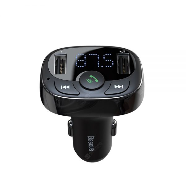 Baseus S - 09A Bluetooth 4.2 Car Charger FM Transmitter MP3 Player Dual USB