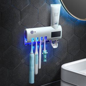 BRELONG YJ200 Smart UV Toothbrush Sterilizer Holder Multifunctional Bathroom Wall-mounted Tooth Rack Sterilization