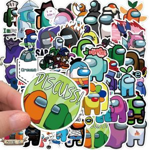 10/50Pcs New Among Us Game Stickers Waterproof Laptop Helmet Decals Stickers Kids Cartoon Skateboard Luggage Stationery Toys