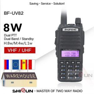 Upgrade BaoFeng UV-82 8W Optionl 5W Baofeng UV 82 Walkie Talkie 10 KM Baofeng 8W Ham Radio 10KM Dual PTT 82HP UV-9R GT-3TP UV-5R