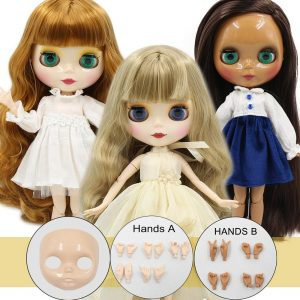 ICY DBS Blyth Doll 1/6 bjd joint body ob24 TOY gift hands and faceplate naked doll 30cm on sale