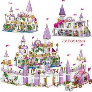 731PCS Princess Series Castle Building Blocks Magical Ice Castle Bricks Compatible Girls Friends Educational Toys For Children