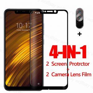 Full Glue Screen Protector For Xiaomi Pocophone F1 Glass For Poco M3 X3 F2 M2 Pro Tempered Glass Protective Phone Film Poco F1