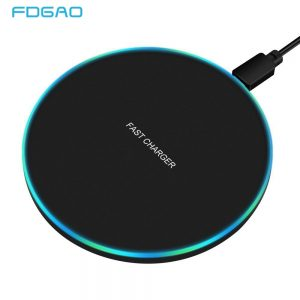 FDGAO 30W Fast Wireless Charger For Samsung S10 S20 S9 Note 20 10 9 USB C Qi Charging Pad for iPhone 12 11 XS XR X 8 Airpods Pro