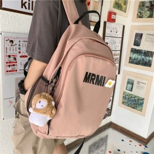 Fashion Nylon School Bag Korean Version of Harajuku Large Capacity Backpack Campus Simple Multifunctional Ladies Bags Sac A Dos