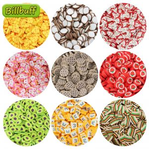 10g DIY Simulation Food Slice Slimes Additives Soft Slice for Nail Art Beauty Decor Slimes Filler Supplies Charms Accessories To